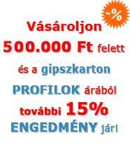 15%-os profil akció